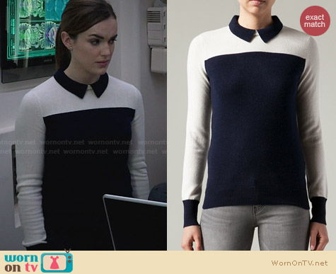 Demy Lee Syndey Polo Sweater worn by Elizabeth Hendstridge on Agents of SHIELD