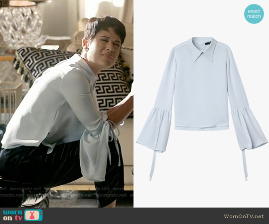 Derek Lam Bell Sleeve Blouse worn by Grace Gealey on Empire