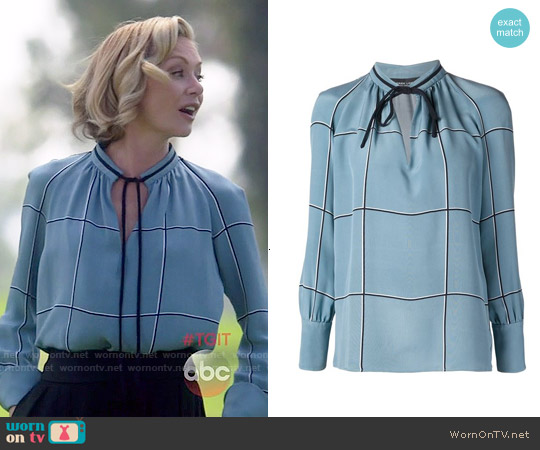 Derek Lam Tied Neck Blouse worn by Portia de Rossi on Scandal