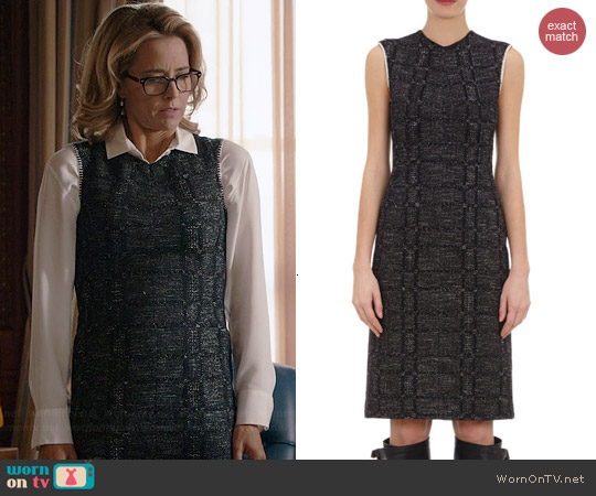 Derek Lam Tweed Jersey Dress worn by Tea Leoni on Madam Secretary