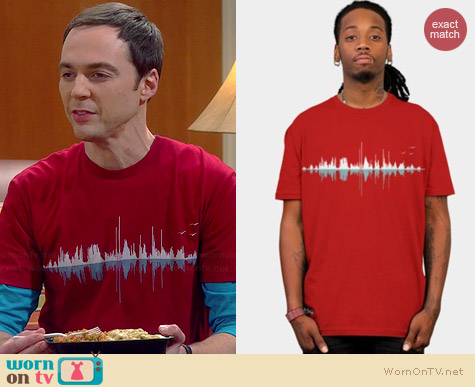 Design by Humans Expo Music City Tee worn by Jim Parsons on The Big Bang Theory