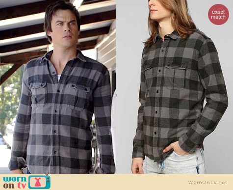 Devil's Harvest Buffalo Plaid Shirt worn by Ian Somerhalder on The Vampire Diaries