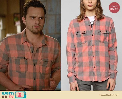 Devil's Harvest Washed Buffalo Plaid Shirt worn by Jake Johnson on New Girl