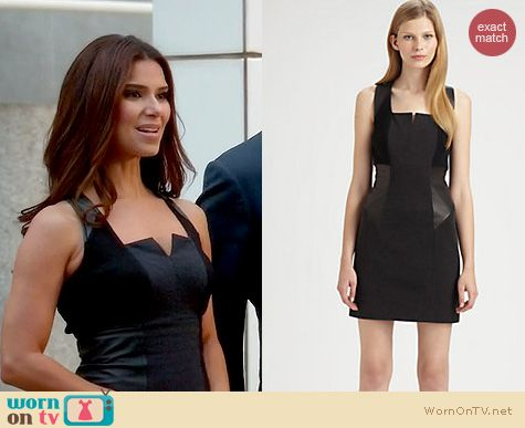 Devious Maids Fashion: Cut 25 by Yigal Azrouel leather and ponte dress worn by Roselyn Sanchez