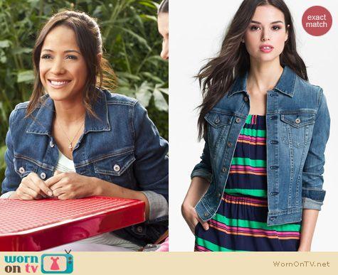 Devious Maids Fashion: AG Jeans Robyn Denim jacket worn by Dania Ramirez