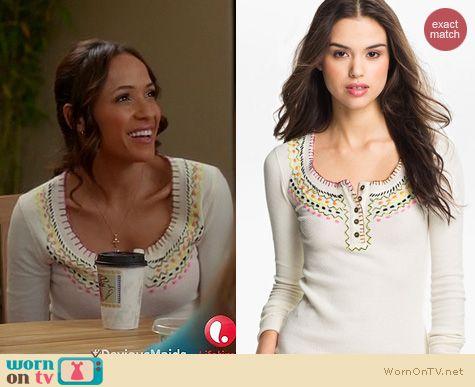 Devious Maids Fashion: Free People Money Maker Termal worn by Dania Ramirez