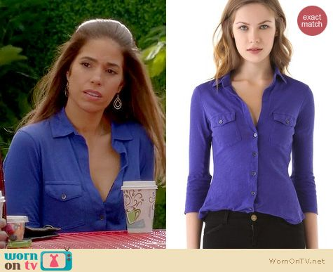 Devious Maids Fashion: James Perse Button down shirt worn by Ana Oritz