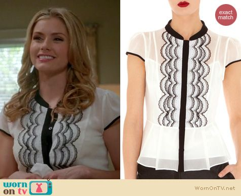 Devious Maids Fashion: Karen Millen Scallop Technique blouse worn by Brianna Brown