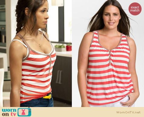Devious Maids Fashion: Splendid Rugby Stripe henley tank worn by Dania Ramirez