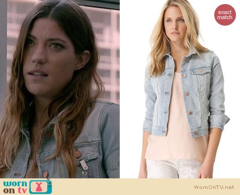 Dexter Fashion: J. Brand Slim Fit Denim jacket worn by Jennifer Carpenter
