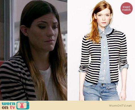 Dexter Fashion: J. Crew Collection Tonal Stripe Cardigan worn by Jennifer Carpenter