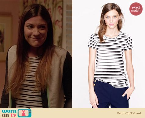 Dexter Fashion: J. Crew Vintage Cotton Tee in stripe worn by Jennifer Carpenter
