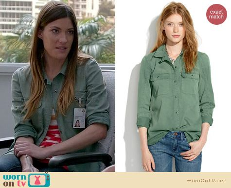 Dexter Fashion: Madewell Tomboy Workshirt worn by Jennifer Carpenter