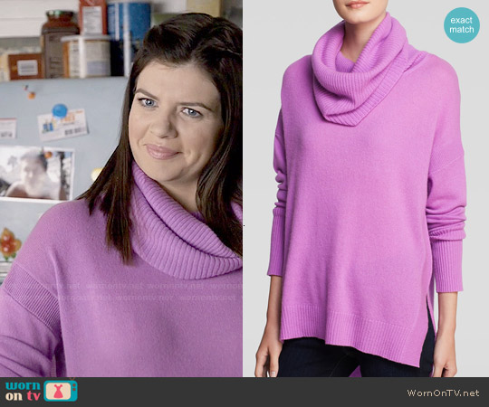 Diane von Furstenberg 'Ahiga' Cashmere Turtleneck Sweater worn by Casey Wilson on Marry Me