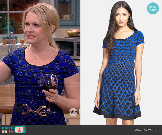 Diane von Furstenberg Alina Acorn Dress worn by Melissa Joan Hart on Melissa & Joey