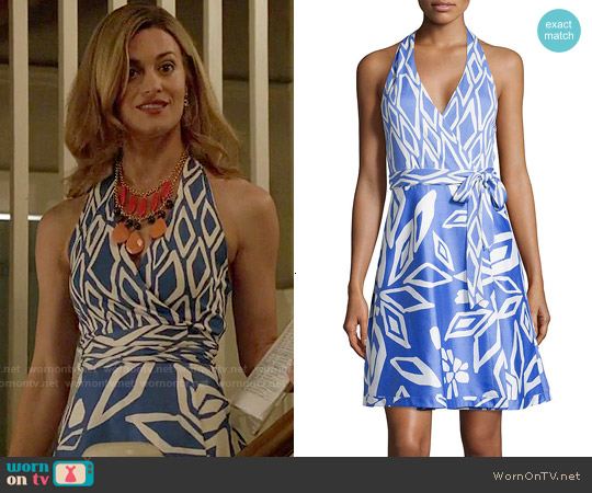 Diane von Furstenberg Amelia Halter Dress worn by Brooke D'Orsay on Royal Pains