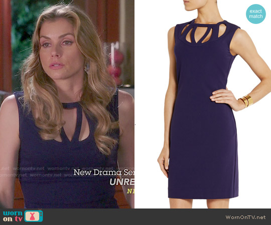Diane von Furstenberg Amy Cutout Sheath worn by Brianna Brown on Devious Maids