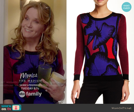 Diane von Furstenberg April Floral Sweater worn by Lea Thompson on Switched at Birth