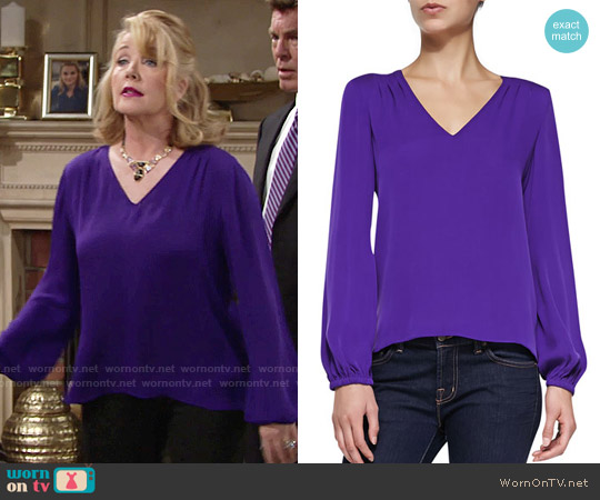 Diane von Furstenberg Arlenis Top worn by Melody Thomas-Scott on The Young & the Restless