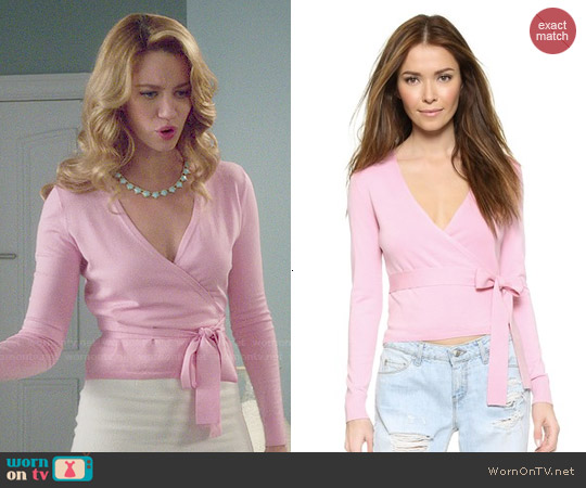 Diane von Furstenberg Ballerina Cardigan Sweater worn by Yael Grobglas on Jane the Virgin