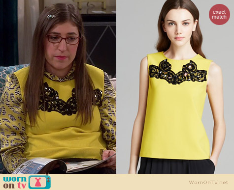 Diane von Furstenberg Betty Shell in Glowlight worn by Mayim Bialik on The Big Bang Theory