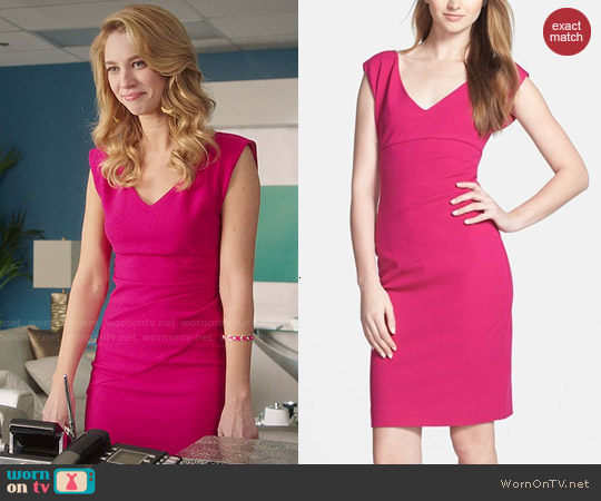 Diane von Furstenberg 'Bevin' Dress in Pink worn by Yael Grobglas on Jane the Virgin