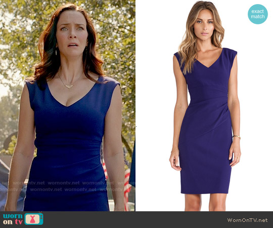 Diane von Furstenberg Bevin Sheath worn by Annie Wersching on The Vampire Diaries