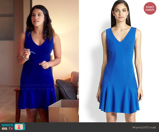 Diane von Furstenberg Carla Dress worn by Gina Rodriguez on Jane the Virgin