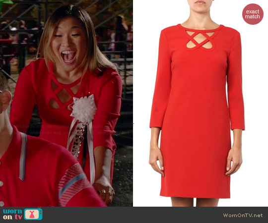 Diane von Furstenberg Carmen Dress in Poppy worn by Jenna Ushkowitz on Glee