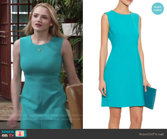 Diane von Furstenberg Carrie Dress worn by Hunter King on The Young & the Restless