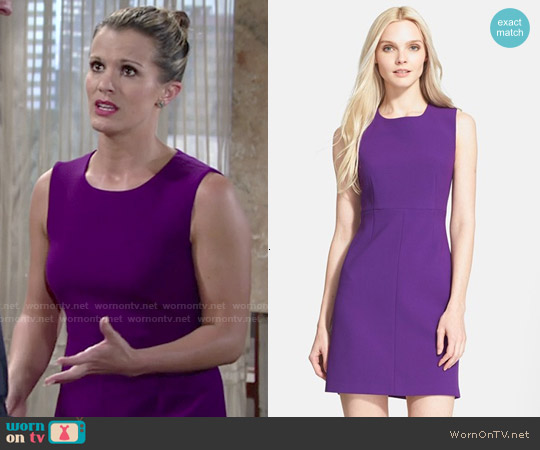 Diane von Furstenberg Carrie Dress in Royal Purple worn by Melissa Claire Egan on The Young & the Restless