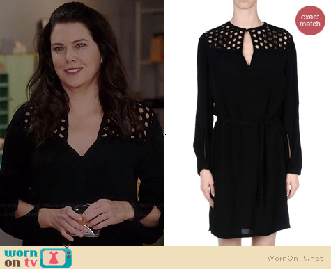 Diane von Furstenberg Crochet Detail Dress worn by Lauren Graham on Parenthood