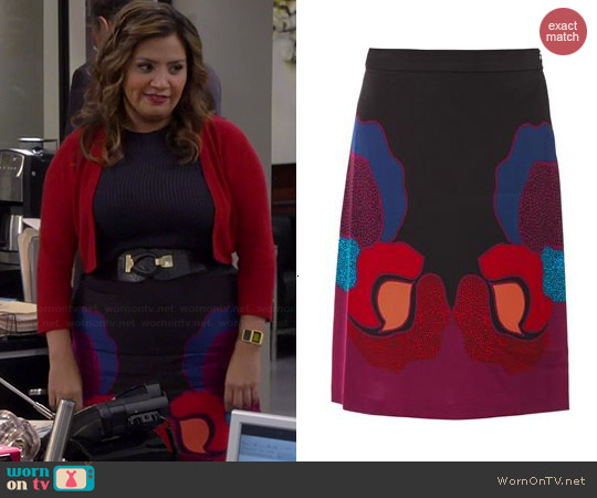 Diane von Furstenberg Dancing Skirt worn by Cristela Alonzo on Cristela