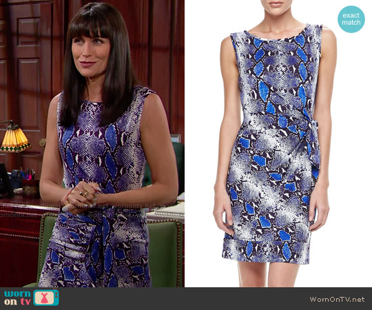 Diane von Furstenberg Della Python Print Dress worn by Rena Sofer on The Bold & the Beautiful