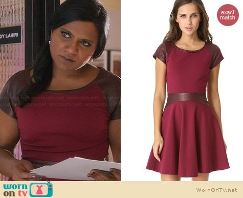 Diane von Furstenberg Delyse Combo Dress worn by Mindy Kaling on The Mindy Project