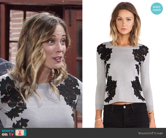Diane von Furstenberg Doreen Sweater worn by Kelly Sullivan on The Young & the Restless