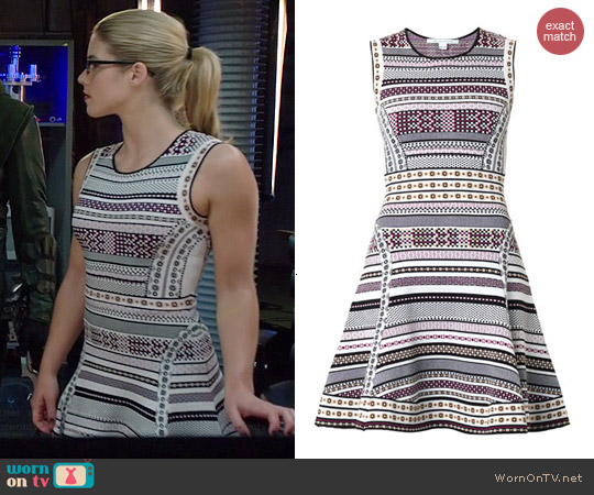 Diane von Furstenberg Eleanor Dress worn by Emily Bett Rickards on Arrow