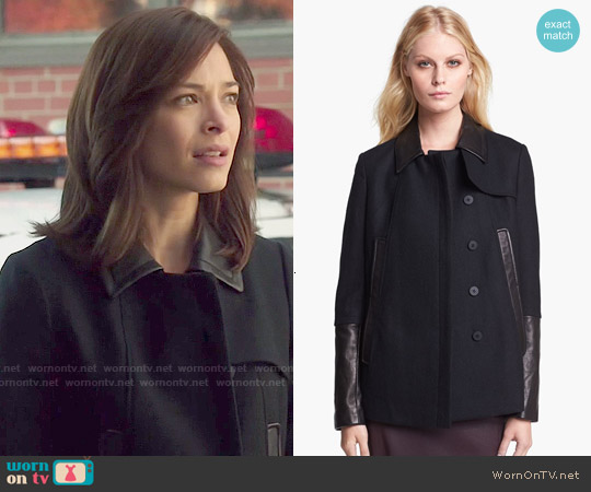 Diane von Furstenberg 'Eva Melton' Coat worn by Kristin Kreuk on Beauty & the Beast