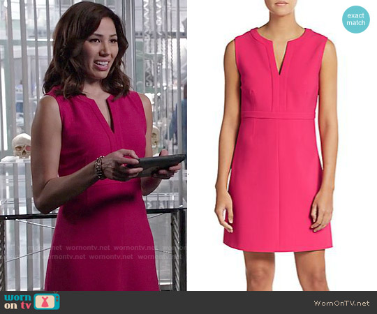 Diane von Furstenberg Fleur Dress in Fuchsia worn by Michaela Conlin on Bones