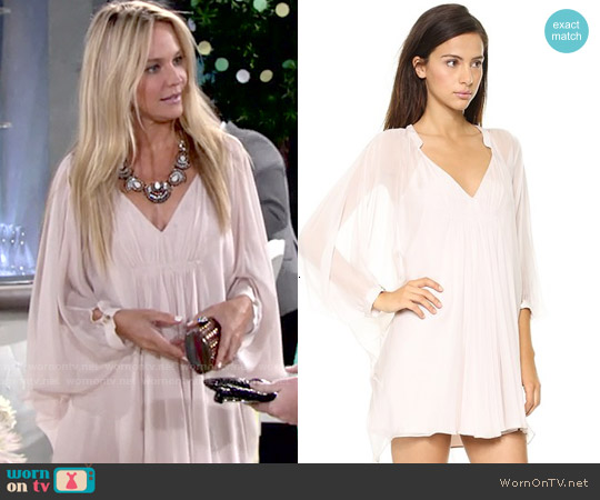 Diane von Furstenberg Fleurette Dress in Nude worn by Sharon Case on The Young & the Restless