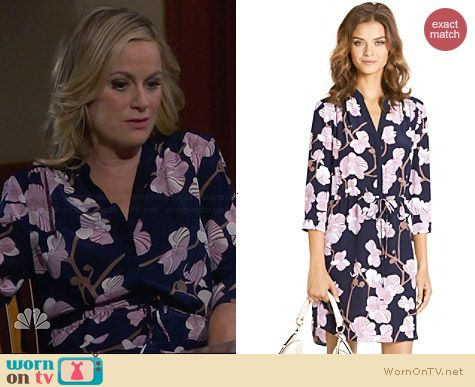 Diane von Furstenberg Freya Orchid Dress worn by Amy Poehler on Parks & Rec