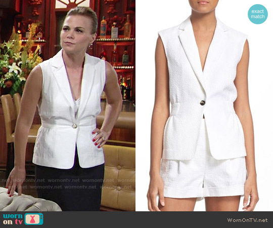 Diane von Furstenberg Gavyn Vest worn by Gina Tognoni on The Young & the Restless