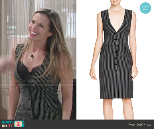 Diane von Furstenberg Gilet Pinstripe Dress worn by Melissa Claire Egan on The Young & the Restless