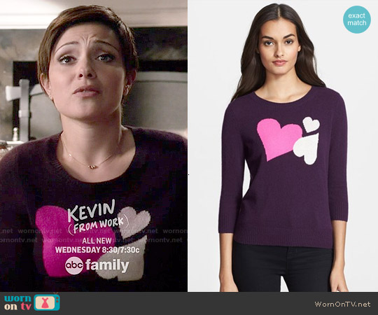 Diane von Furstenberg Heart Intarsia Sweater worn by Italia Ricci on Chasing Life