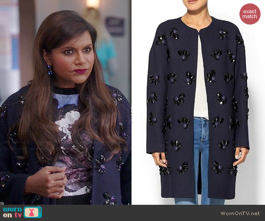 Diane von Furstenberg Isabelle Coat worn by Mindy Kaling on The Mindy Project