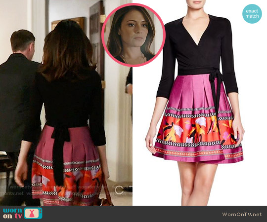 Diane von Furstenberg Jewel Wrap Dress worn by Italia Ricci on Designated Survivor