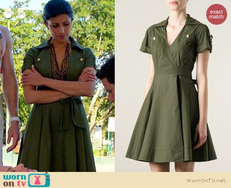 Diane von Furstenberg Kaley Wrap Dress worn by Reshma Shetty on Royal Pains