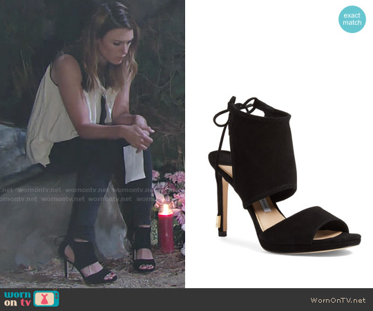 Diane von Furstenberg Laie Sandal worn by Chloe Mitchell on The Young & the Restless
