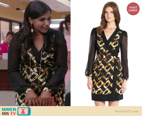 Diane von Furstenberg Laila Dress worn by Mindy Kaling on The Mindy Project