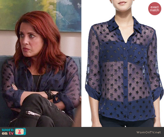 Diane von Furstenberg Lorelai Star Blouse worn by Alanna Ubach on GG2D